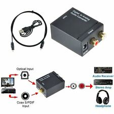 Optical Coaxial Toslink Digital to Analog Audio Converter Adapter RCA L/R 3.5mm^
