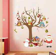 Christmas Santa Claus Owl Wall Sticker Mural Decal Art Vinyl Home Decor Xmas UK