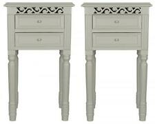 Set of 2 BEDSIDE CABINETS Tables in French grey Belgravia style shabby / chic