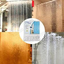 3D Thicker Clear PEVA Bath Bathtub Shower Curtain Water Cube With Free 12 Hooks