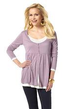 Vivien Caron 2-in-1 Bluse Langarmshirt Shirt Langarm Tunika Hemd Gr. 36 815796