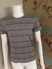 CP COMPANY GREY STRIPED CREW NECK COTTON TEE SHIRT SIZE MEDIUM 36-38in CHEST NWT