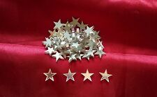 20 Acrylic mirrored glass 1.5cm stars mirror shapes embellishments scrapbook