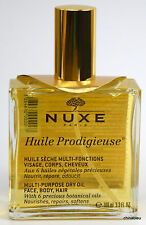 NUXE Huile Prodigieuse Multi-Purpose Dry Oil 3.3 oz 100mL Face, Hair, Body