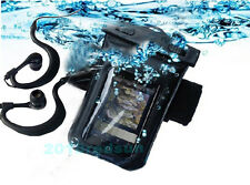 Universsal waterproof case/Cover+arm Belt+earphone for Smartphone mobile phone