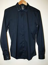 Diesel Slim Fit Dark Navy Blue Long Sleeve Shirt Size S