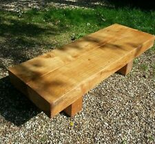 Solid oak Railway sleeper new contemporary coffee table hand crafted oak beam