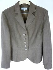 NEXT BROWN LINEN AND GOLD PINSTRIPE JACKET (Jacket 14 / 16)