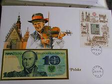 * Banknotenbrief  Polen 1985 * mit  10 Zloty *
