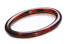 TRADITIONAL & TIMELESS DARK BROWN AMBER EFFECT PLASTIC ROUND BANGLE (ZX48/ZX59)