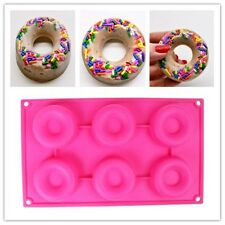 Silicone 6 Donut Doughnut Cake Mould Chocolate Soap Candy Mold Baking Pan