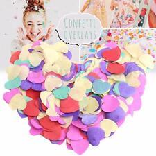 Multi Color Heart Shape Biodegradable Confetti Tissue Paper Wedding Party Decor