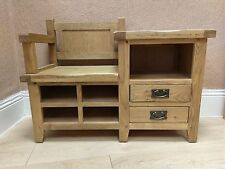 SOLID OAK Monks BENCH Shoe Storage Hallway Telephone Free Delivery*