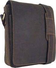 UNICORN Real Leather iPad, Kindle, Tablets & Accessories Messenger Bag Brown #2E