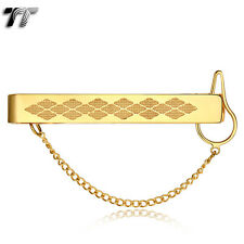 Vintage TT 14K Gold GP 316L Stainless Steel Tie Clip Clasp (TC04J) NEW Arrival