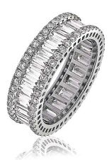 18ct White Gold Real Diamond Baguette Full Eternity Ring 2.75ct G SI1
