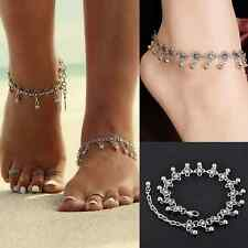 Anklet Silver Chic Bead Chain Ankle Bracelet Barefoot Sandal Beach Foot Jewelry