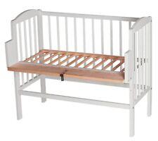Beistellbett Wiege in Weiß Massiv Stillbett Stubenbett 3in1 Babybett Anstellbett