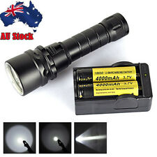 Diving 6000lm XML2 LED Flashlight Scuba Torch Underwater 100m Lamp+18650+Charger