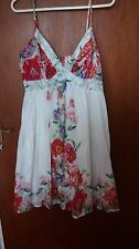 Size 12 White Sun Dress with Flowers New Look SALE