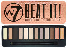 W7 12 Colour Eyeshadow Palette - Beat It - With Applicator Makeup Christmas Gold