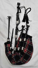 New Great Highland Bagpipe Black Silver/Highland Bagpipe Rosewood Black Freereed