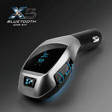 X5 Bluetooth Car Kit MP3 Wireless FM Transmitter USB SD LCD Charger Handsfree UK