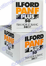 2 x ILFORD PAN F 35mm 36exp BLACK & WHITE CAMERA FILM  by 1st CLASS POST