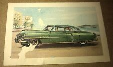 1952 CADILLAC - MALTIES CEREALS Australia Trade Card - RARE