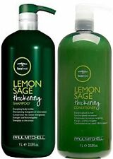 PAUL MITCHELL LEMON SAGE THICKENING SHAMPOO 1 LITRE AND CONDITIONER 1 LITRE