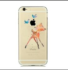 Disney Watercolour Bambi Clear Silicone Gel Case For iPhone 5/5s. BN