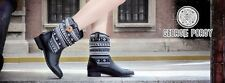 Brand New Women's Black Nepal Boots by Georgie Porgy shoes size 6 UK, EU 39