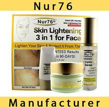 Nur76 ADVANCED 3in1 Skin Lightening - Serum, Cream & Protector. Whitening nur 76