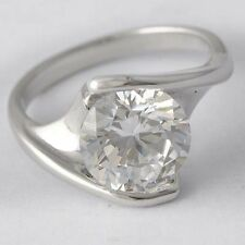 Womens White Gold Plated Clear CZ Wedding Engagement Ring Size 7 Fashion Jewelry