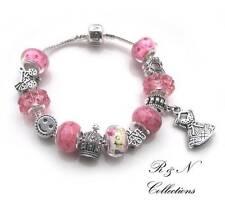 925 Sterling Silver Plated Dress Resin Charms Beads European Bracelet (SB13-28)