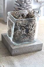 feiner Glashafen Dekoglas Glas Shabby 9x10cm Windlichtglas Windlicht Vase