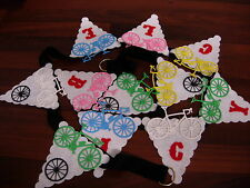 Bespoke sport football  jogging cycling bunting horse riding  personalised NEW