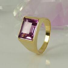 Ring in 585/- Gelbgold mit 1 Amethyst