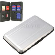 Aluminum 8 in 1 Micro SD SDHC Memory Card Storage Carrying Case Protector UK