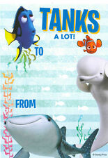 Disney FINDING DORY NEMO THANK YOU Sheets 20 Pack includes Envelopes Party