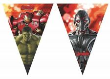 Marvel's Avengers Age Of Ultron Superhero Party Plastic Triangle Pennant Bunting