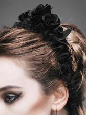 Gothic Devil Fashion haarreif blumen schwarz Rose Haarband Kopfschmuck Headpiece