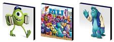 MONSTERS UNIVERSITY - MIKE/SULLEY- CANVAS ART BLOCKS/ WALL ART PLAQUES/PICTURES