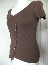 M & S per una ladies brown T shirt size 8