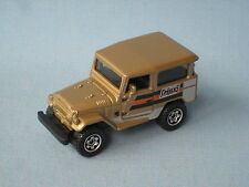 Matchbox Toyota Land Cruiser 1968 Gold Body in BP Toy Model Car