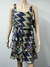 NEW - Signature by Robbie Bee Sleeveless Tiered Dress - Size 8P Multicolored $79