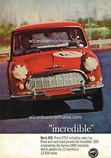 1964 AUSTRALIAN MORRIS MINI 850 A3 POSTER AD SALES BROCHURE ADVERT ADVERTISEMENT