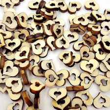 100pcs Rustic Wood hollow Love Heart Wedding Table Scatter Decoration Crafts DIY