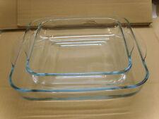 Borcam Set Glas Auflaufform Servierform Eckig  2tlg