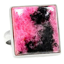 Rhodonite 925 Sterling Silver Ring Jewelry s.8 RDNR256